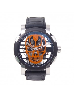 Romain Jerome Skylab Speed Metal Black PVD S.S.Mechanical Men's Watch RJMAU03013