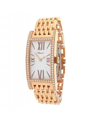 Chopard 109338-5001 18K Rose Gold Diamonds White Watch