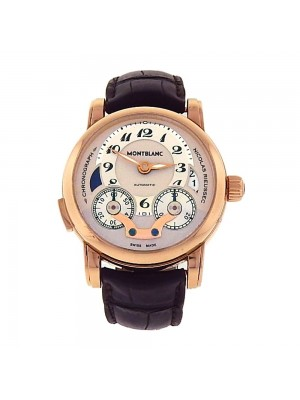 Montblanc Nicolas Rieussec Monopoussoir 18k Rose Gold Automatic Watch SM101118