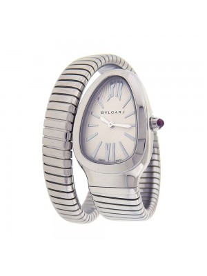 Bvlgari Serpenti Spiga Stainless Steel Quartz Movement Ladies Watch SP 35 S