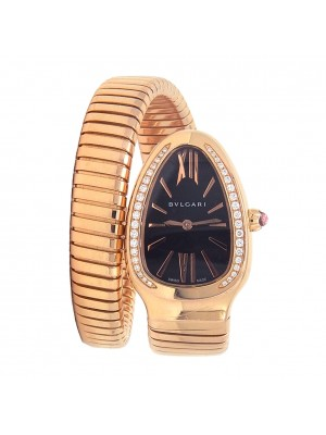 Bvlgari Serpenti Spiga 18k Rose Gold Swiss Quartz Ladies Watch SPP35G