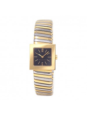 Bvlgari 18k Yellow Gold & Stainless Steel Quartz Ladies Watch SQ 22 2T