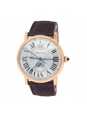 Cartier Rotonde de Cartier Large Date Second Time-Zone 18k Rose Gold W1556220