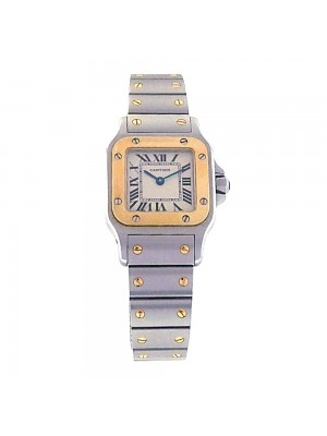 Cartier Santos Galbee Stainless Steel and 18k Yellow Gold Quartz Watch W20012C4