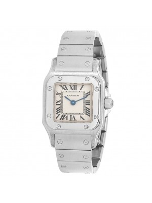 Cartier Santos de Cartier Stainless Steel Quartz Silver Ladies Watch W20056D6