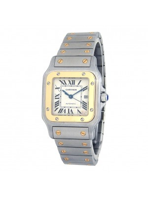 Cartier Santos Galbee 18k Yellow Gold & Stainless Steel Automatic W20058C4