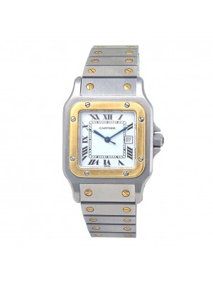 Cartier Santos Galbee Stainless Steel & 18k Yellow Gold Watch Automatic W20058C4