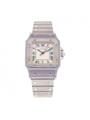 Cartier Santos W20060D6 Stainless Steel Quartz White Ladies Watch