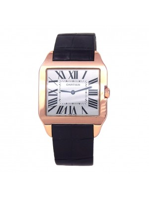 Cartier Santos Dumont 18k Rose Gold Mechanical Ladies Watch W2006951