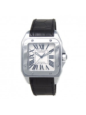 Cartier Santos 100 Stainless Steel Automatic Mens Watch W20073X8