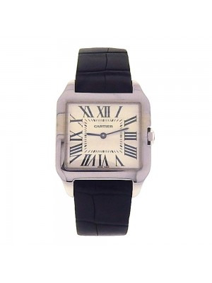 Cartier Santos Dumont 18K White Gold Swiss Quartz Ladies Watch W2009451