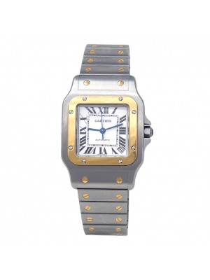 Cartier Santos Galbee XL Stainless Steel & 18k Yellow Gold Automatic W20099C4