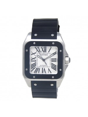 Cartier Santos 100 Stainless Steel Men's Watch Automatic W20121U2