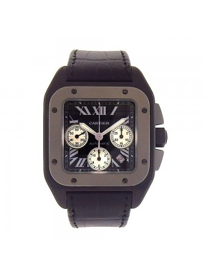 Cartier Santos 100 Titanium Case Automatic Chronograph Men's Watch W2020005