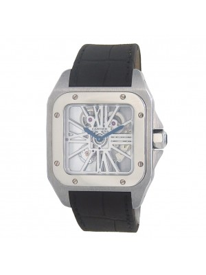 Cartier Santos 100 Palladium Men's Watch Manual W2020018