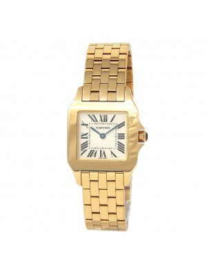 Cartier Santos Demoiselle 18k Yellow Gold Women's Watch Quartz W25062X9
