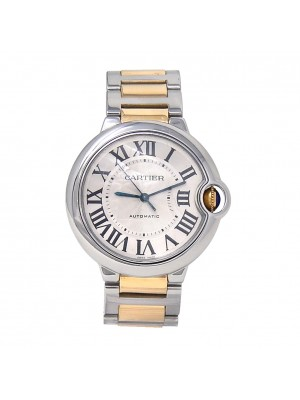 Cartier Ballon Bleu Stainless Steel& 18k Yellow Gold Automatic Watch W2BB0012