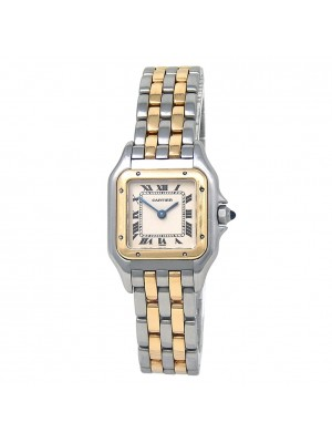 Cartier Panthere 18k Yellow Gold & Stainless Steel Men's Watch Quartz W2PN0006