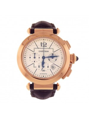 Cartier Pasha Chronograph 18k Rose Gold Automatic Men's Watch W3019951