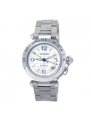 Cartier Pasha GMT Stainless Steel Automatic Men's Watch W31029M7