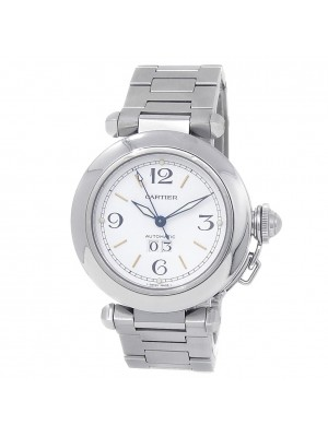 Cartier Pasha Stainless Steel Automatic White Men's Watch W31044M7