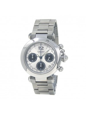 Cartier Pasha Chronograph Stainless Steel Automatic Men's Watch W31048M7