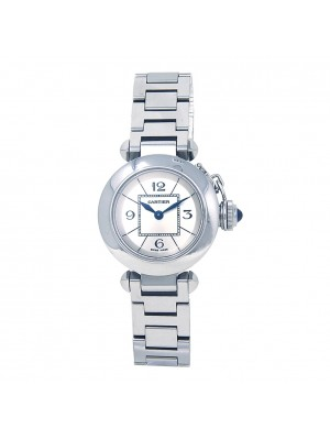 Cartier Miss Pasha Stainless Steel Swiss Quartz Ladies Watch W3140007