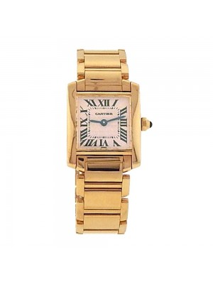 Cartier Tank Francaise 18K Yellow Gold Swiss Quartz Ladies Watch W50002N2