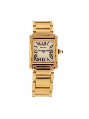 Cartier Tank Francaise 18K Yellow Gold Swiss Quartz Ladies Watch - W50002N2