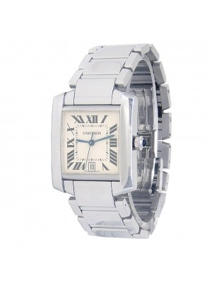 Cartier Tank Francaise 18k White Gold Watch Automatic W50011S3