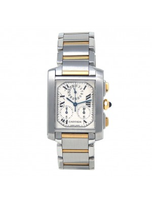 Cartier Tank Francaise Stainless Steel & 18k Yellow Gold Quartz Watch W51004Q4
