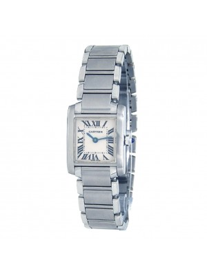 Cartier Tank Francaise Stainless Steel Quartz Ladies Wach W51008Q3