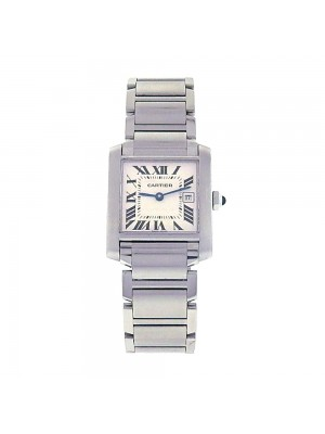 Cartier Tank Francaise Stainless Steel Quartz Movement Ladies Watch W51011Q3