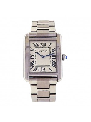 Men's Stainless Steel Cartier Tank Solo Bracelet Dress Watch model W5200013