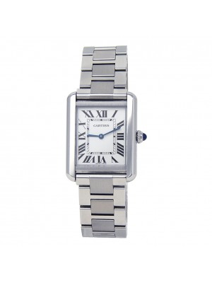 Cartier Tank Solo Stainless Steel Roman Numerals Quartz Ladies Watch W5200013
