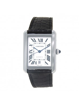 Cartier Tank Solo Stainless Steel Men's Watch Automatic W5200027