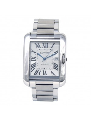 Cartier Tank Anglaise Stainless Steel Automatic Men's Watch W5310008