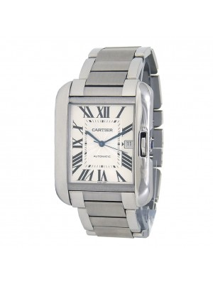 Cartier Tank Anglaise Stainless Steel Men's Watch Automatic W5310008