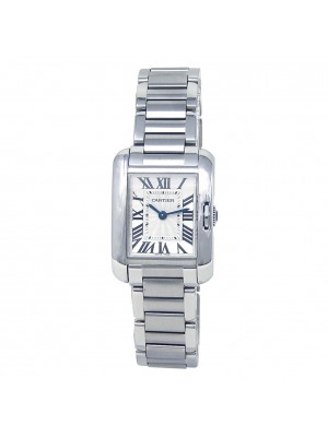Cartier Tank Anglaise Stainless Steel Quartz Ladies Watch W5310022