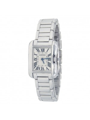 Cartier Tank Anglaise 18k White Gold Swiss Quartz Ladies Watch W5310023