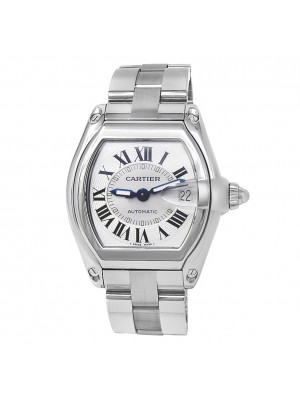 Cartier Roadster Stainless Steel Automatic Silver Men's Watch W62000V3