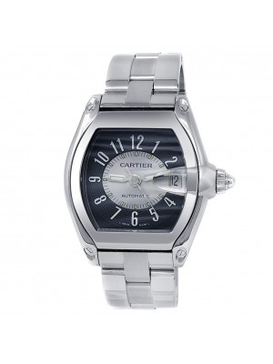 Cartier Roadster Stainless Steel Automatic Silver Grey Men's Watch W62001V3