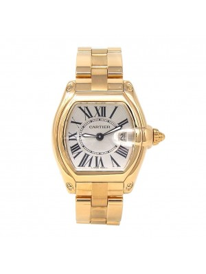 Cartier Roadster 18k Yellow Gold Swiss Quartz Date Display Ladies Watch W62018V1