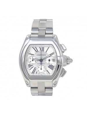 Cartier Roadster Stainless Steel Automatic Chronograph Men's Watch W62019X6