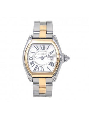 Cartier Roadster 18k Yellow Gold & Stainless Steel Quartz Ladies Watch W62026Y4