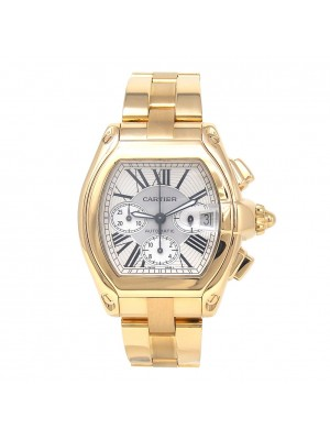 Cartier Roadster 18k Yellow Gold Automatic Chronograph Men's Watch W62021Y2