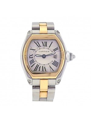 Ladies 18k Solid Yellow Gold and Stainless Steel Cartier Roadster 2 Tone Watch