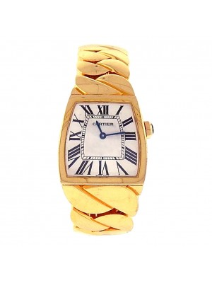 Ladies 18k Solid Yellow Gold Cartier La Dona W640010H Swiss Made Dress Watch
