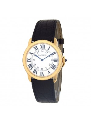 Cartier Ronde Solo 18k Yellow Gold Swiss Quartz Men's Watch W6700455
