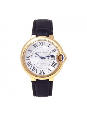 Cartier Ballon Bleu 18k Yellow Gold Automatic Ladies Watch W6900356